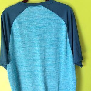 Greg Norman Shirts - Greg Norman Short Sleeve Round Henley T Shirt L